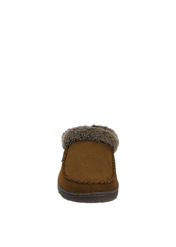 Microsuede Clog Slipper with Cuff