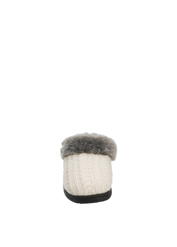 Chalet Cable Knit Clog Slipper