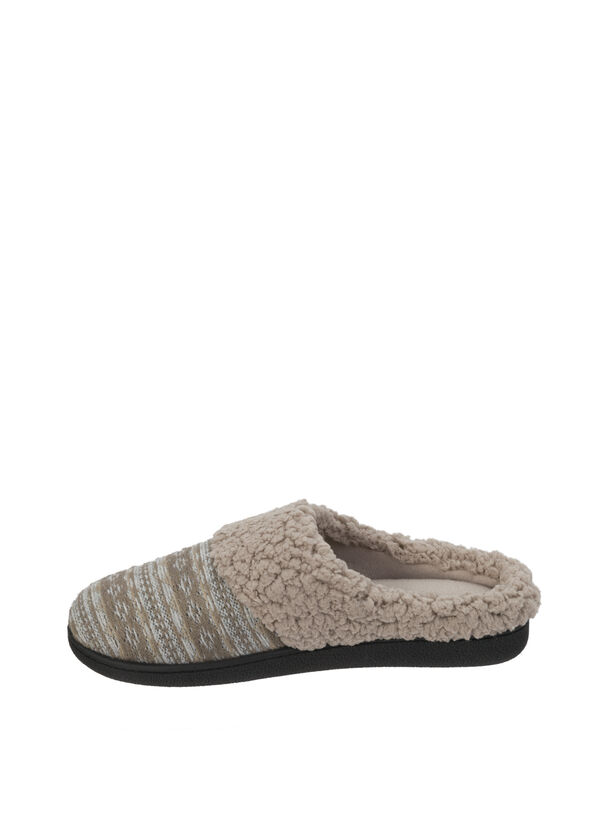 Fair Isle Knit Clog Slipper