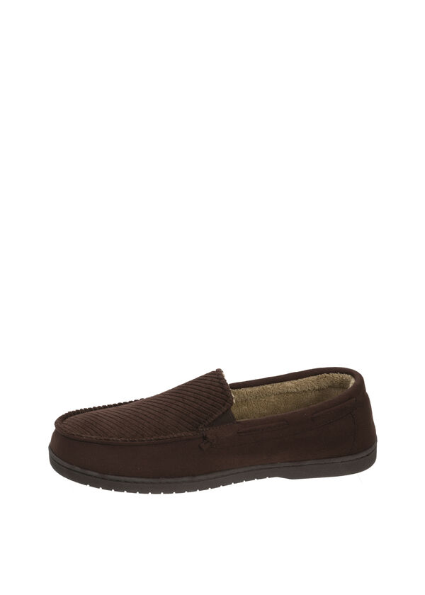 Angled Vamp Corduroy Moccasin Slippers