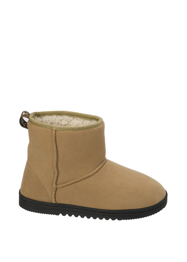 Microsuede Boot Slipper with Tape Loop