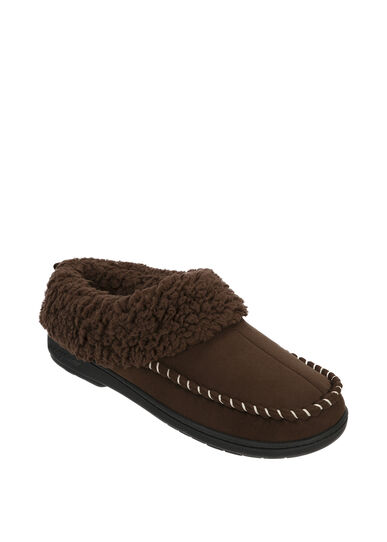 Microsuede Clog Slipper with Deep Cuff