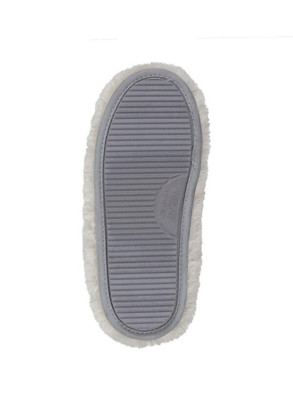 Plush Boot Slipper with Half Zip