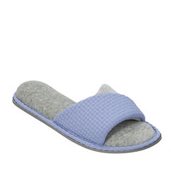 Textured Knit Twist Vamp Slide