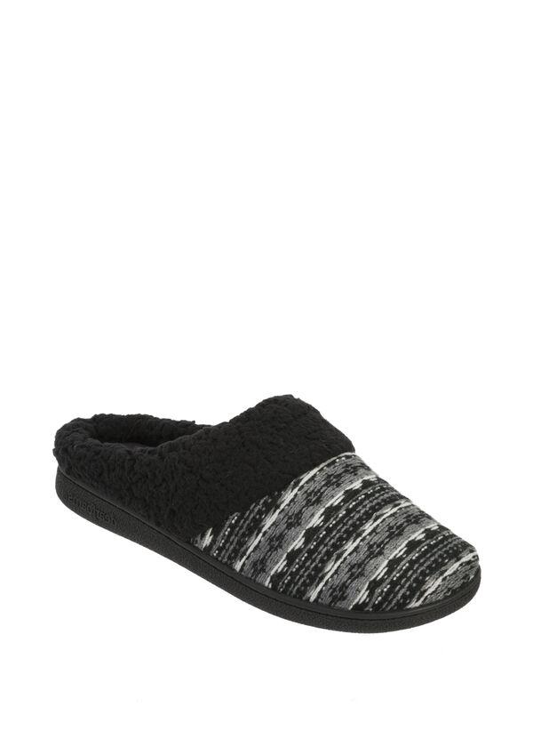 Fair Isle Knit Clog Slipper
