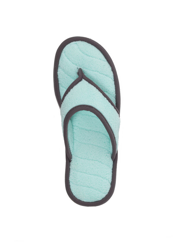 Microfiber Terry Thong with Wave Quilt Sock