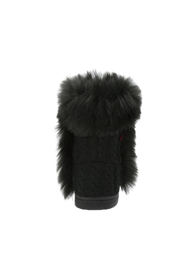 tweed cushionology™ gel bootie with fur