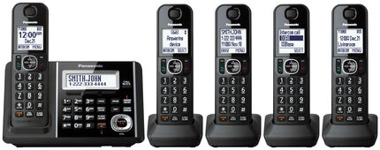 Cordless Phone and Answering Machine with 5 Handsets
