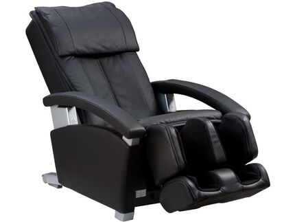 Panasonic EP1285KL massage chair side view chair reclined - black