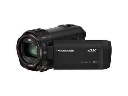 4K Ultra HD Camcorder with Wireless Smartphone Twin Video Capture HC-VX870K