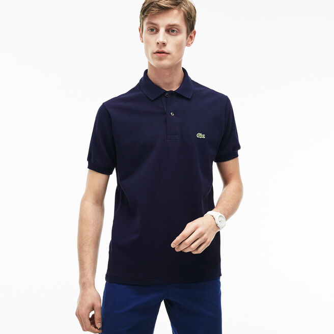 Black long sleeve lacoste polo shirt