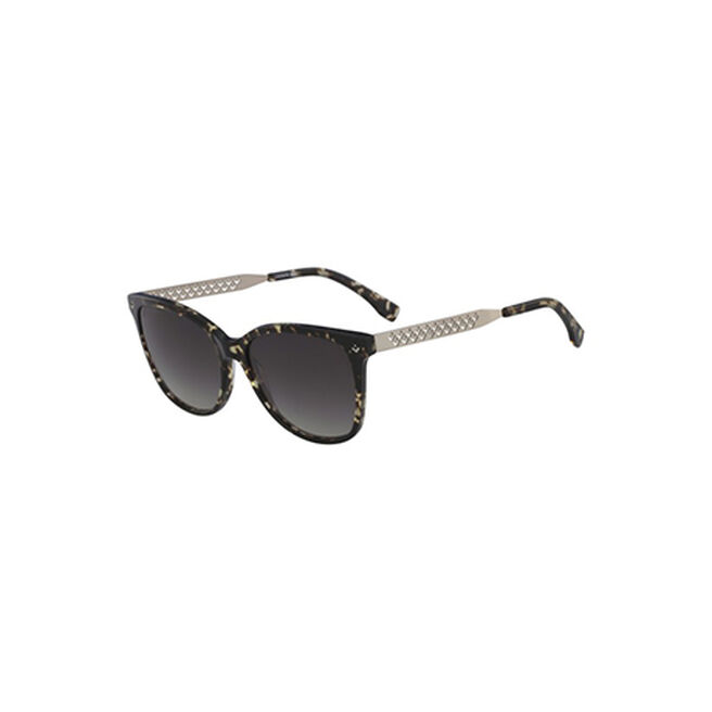 af07cbdc724b LACOSTE WOMEN S STAINLESS STEEL AND PLASTIC CATEYE PETITE PIQUE SUNGLASSES
