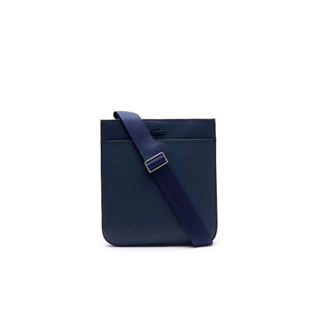 973f32249 LACOSTE MEN S CHANTACO MATTE PIQUÉ LEATHER BAG