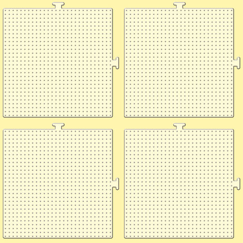Mini Beads Pegboards - 4 Pack_80-26055