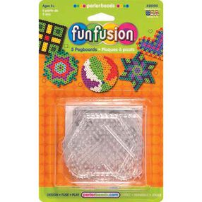 Small Basic Shapes Clear Pegboards: 5 Ct