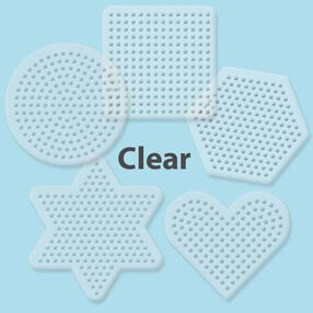 Small Basic Shapes Clear Pegboards: 5 Ct_28000