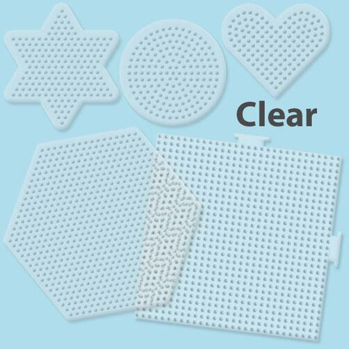 Small & Large Basic Shapes Clear Pegboards: 5 Ct  _22750