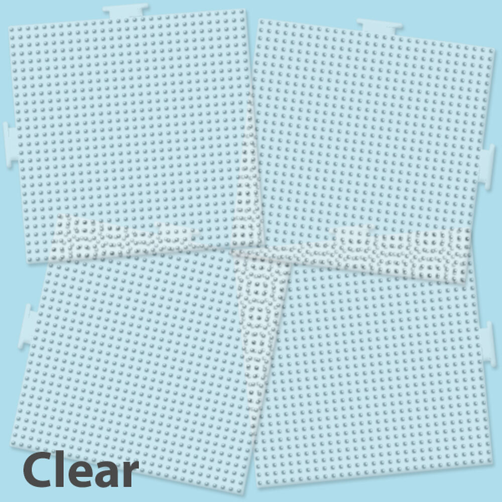 large clear square pegboards 4 pk perler