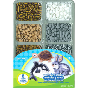 Neutrals 'n Stripes Mini Tray of Beads_80-17603