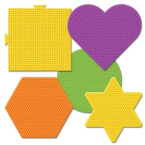 Large Basic Shapes Pegboards: 5 Ct