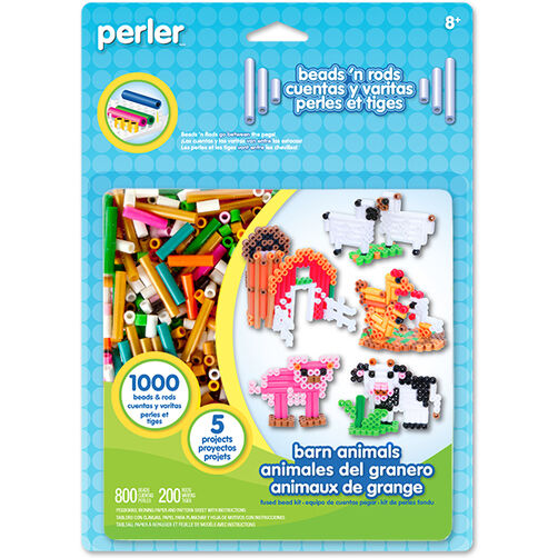 Barn Animals Beads 'n Rods Activity Kit