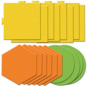 Large Basic Shapes Pegboards Assortment I: 18 Ct_22619
