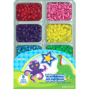 Brights 'n Stripes Mini Tray of Beads_80-17602