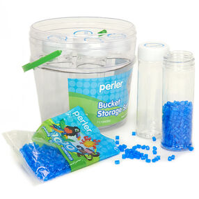 Tall Cylinder Bead Storage Set with Bucket_80-22817