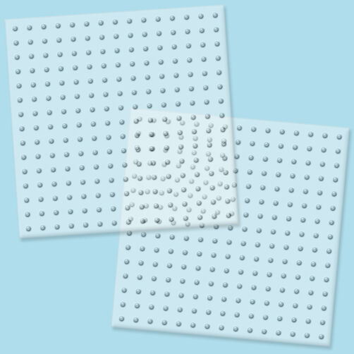 Biggie Beads Clear Pegboards: 2 Ct_70712