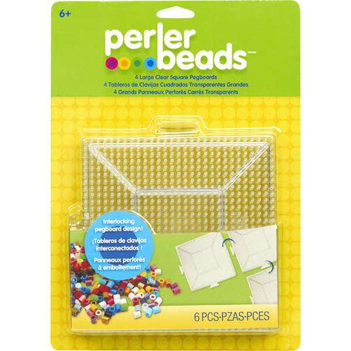 Large Clear Square Pegboards, 4 Pk