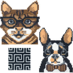Mini Beads Hipster Cat and Dog