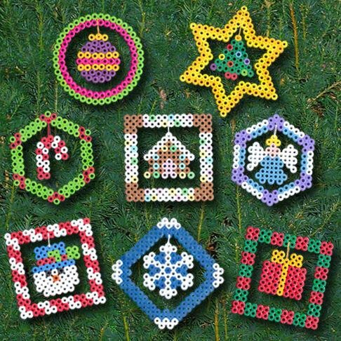 Christmas Ornaments | Perler Beads