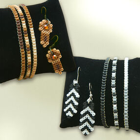 Mini Beads Bracelet and Earring Sets