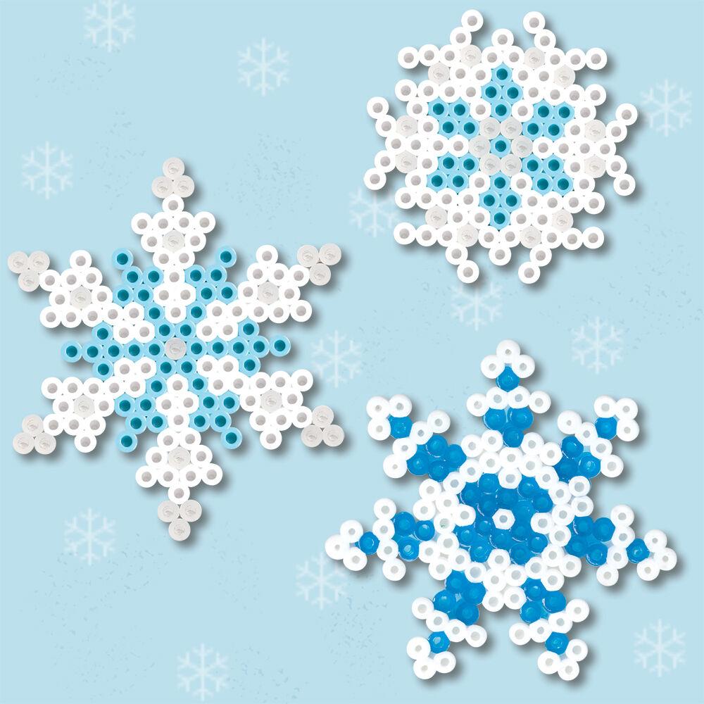 winter snowflakes perler