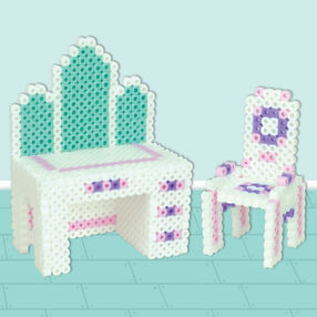 3D Dollhouse Vanity and Chair