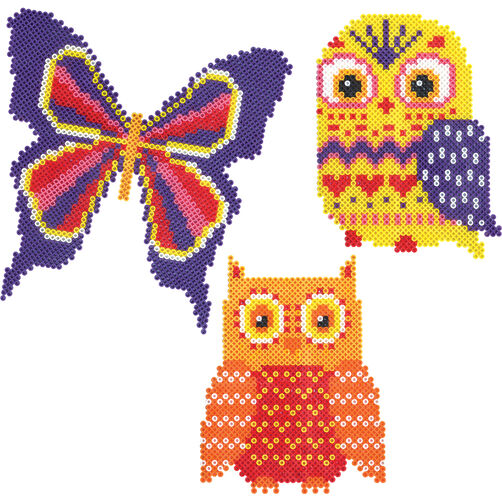 Mini Beads Owls and Butterfly