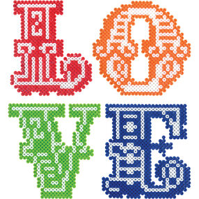 mini beads love letters
