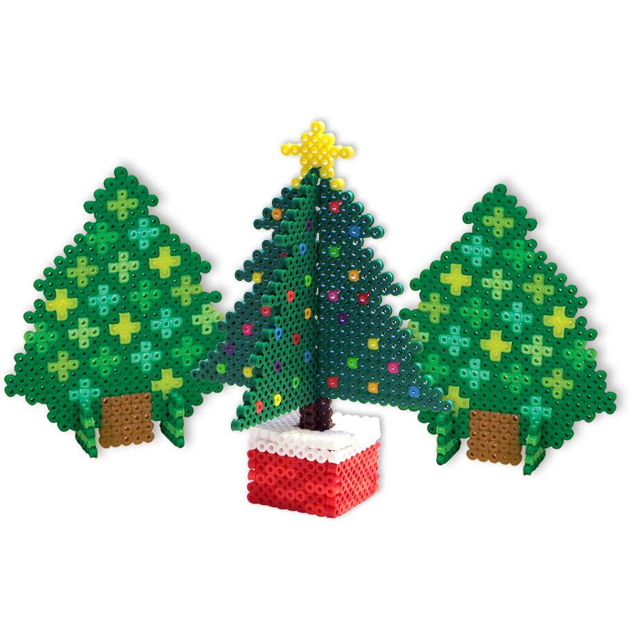 3D Christmas Trees | Perler Beads