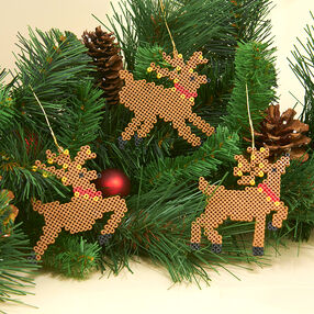 Mini Beads Reindeer Ornaments