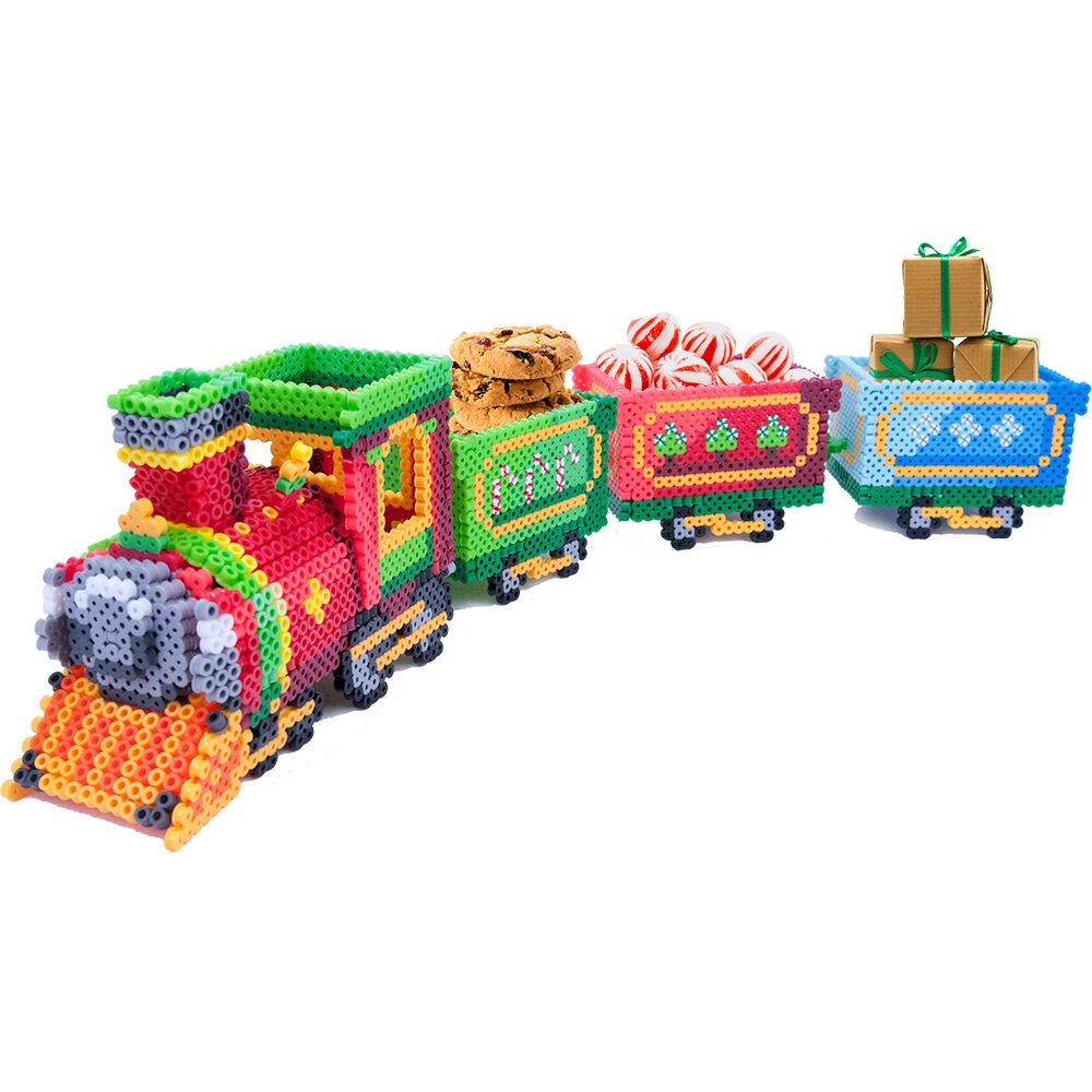 Holiday train perler beads