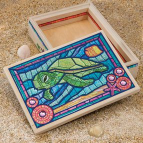 American Girl Crafts Turtle Mosaic Box Kit_30-726345