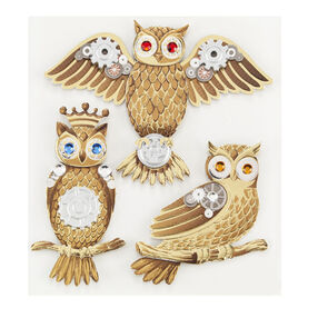 Steampunk Owl Stickers_50-21066