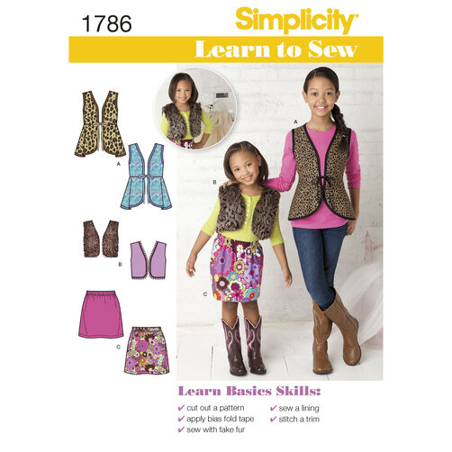 Simplicity Pattern 1786 Learn to Sew Child's & Girls'  Sportswear