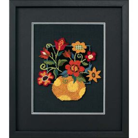 Floral on Black, Embroidery_73222