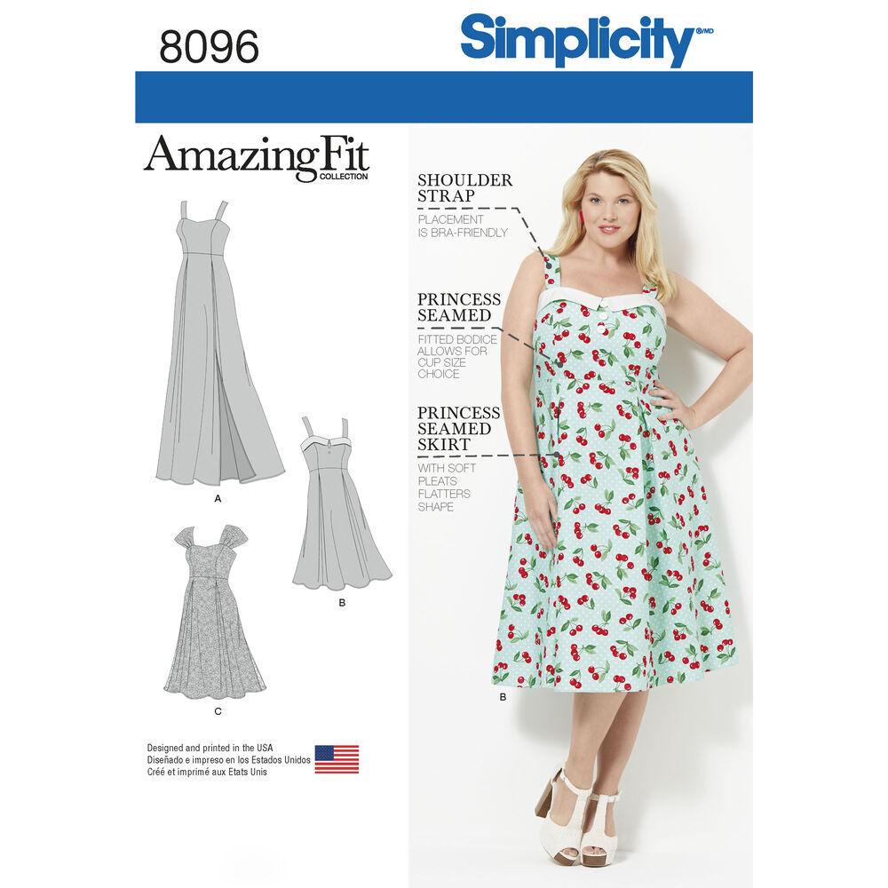 Free Crochet Plus Size Dress Pattern : Pattern 8096 Amazing Fit Plus Size Dresses