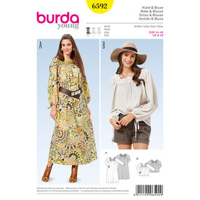 Burda Style Pattern 6592 Dress and Blouse