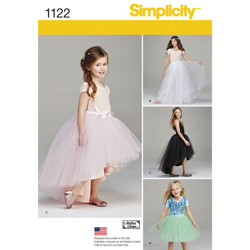 Simplicity Pattern 1122 Child's and Girls' Tulle Skirts