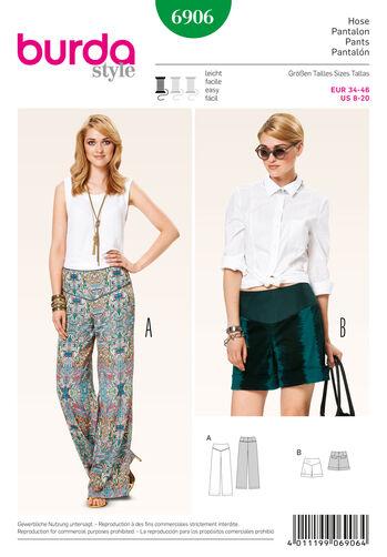 Burda Style Pattern 6906 Pants