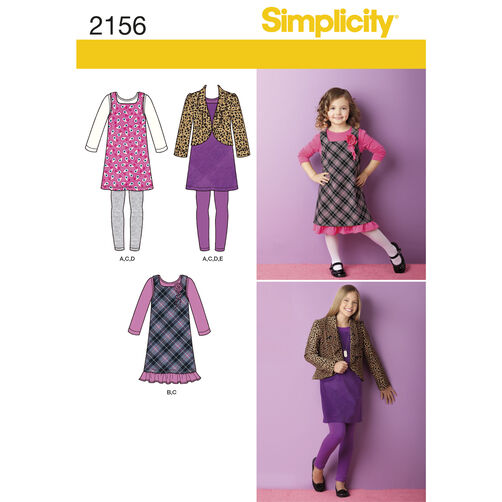 Simplicity Pattern 2156 Child's & Girls' Sportswear