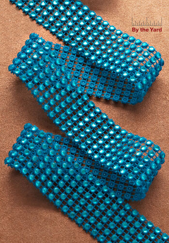 "1-1/16"" 6 Row Rhinestone Trim"